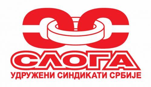 Protest sindikata Sloga ispred Ministarstva poljoprivrede Srbije 1