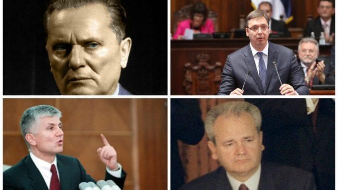 Vučić odmah iza Tita, Đinđić ispred Miloševića 1
