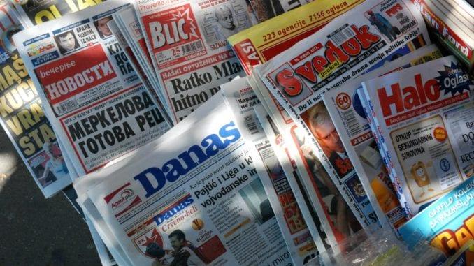 Medijima bliskim vlasti najviše para, kritičarima kazna 1