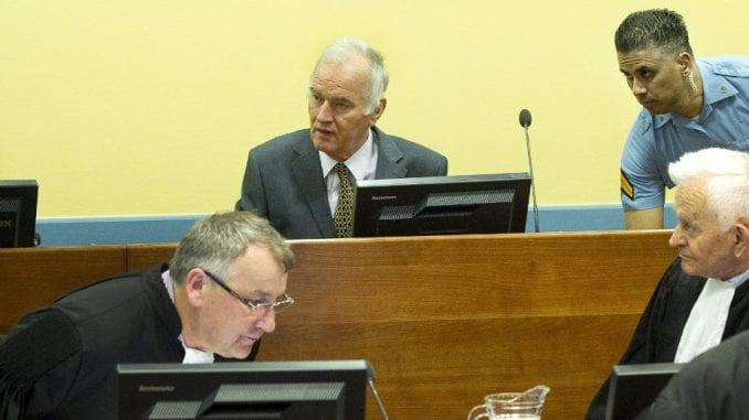 Hag: O žalbama Mladića 25. avgusta 1