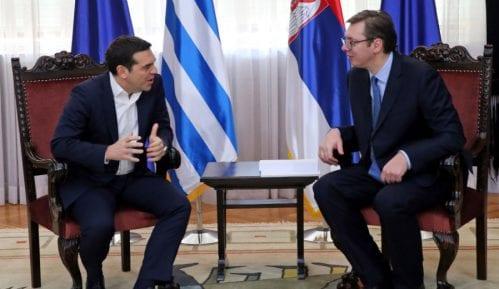 Vučić i Cipras položili cveće na spomenik Rigi od Fere 7