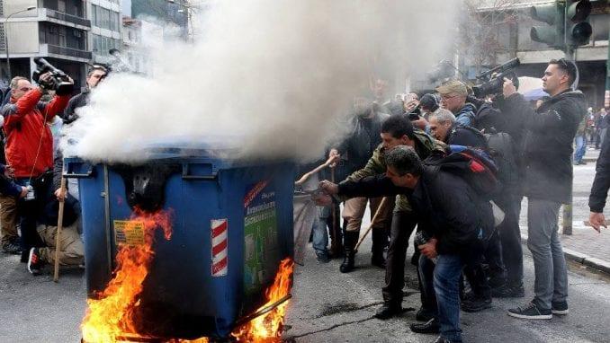 Sukob farmera i policije u Atini 3