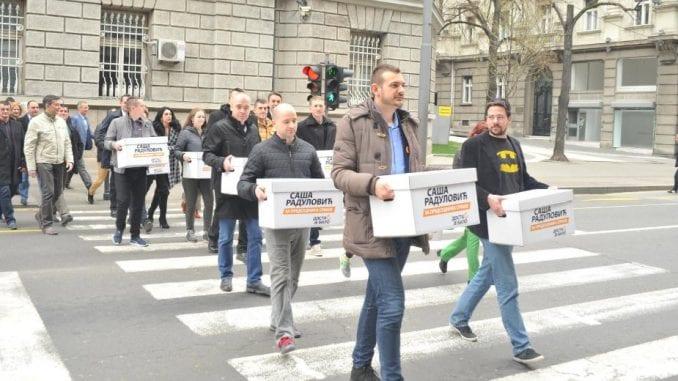 Radulović predao potpise za kandidaturu 1