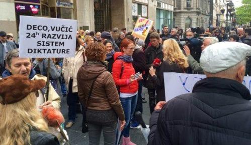 Završen 20. Protest protiv diktature, podrška Maršu za nauku 13