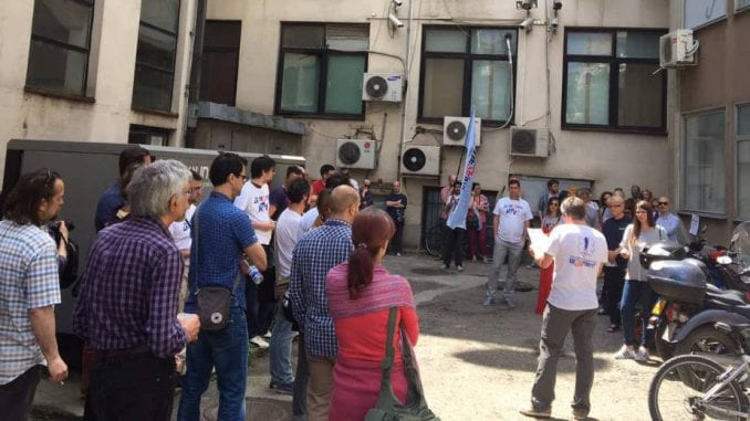 Održan štrajk upozorenja na RTV 1