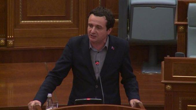 Kurti: Na skupštinu bez dogovora o vladi sa Demokratskim savezom Kosova 3