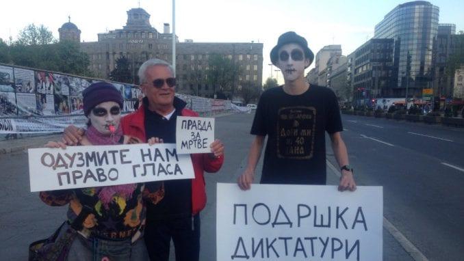 """Protest """"Protiv diktature"""" jednom do dva puta nedeljno 1"""