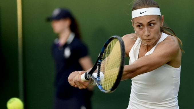 Pad Aleksandre Krunić na WTA listi 2