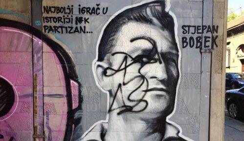 Išaran mural Stjepana Bobeka u Njegoševoj 14