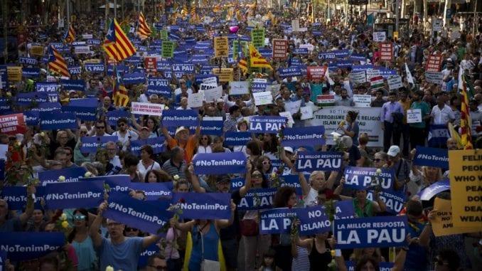"""Marš za mir"" u Barseloni 1"