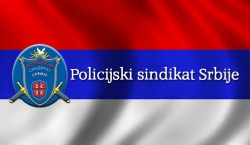Protest Policijskog sindikata Srbije zbog oduzimanja reprezentativnosti 11. marta 14