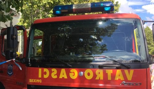 Ugašen požar u podrumu banke u Ulici cara Dušana 15