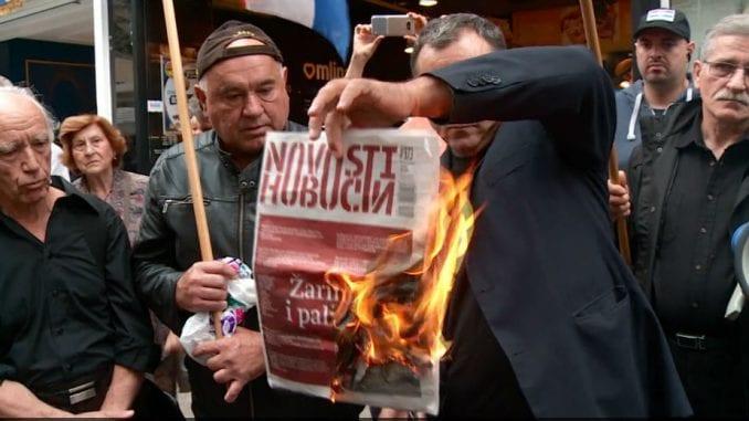 Spaljen srpski list, Dačić uputio protestnu notu Zagrebu 1