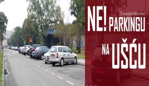 Protest biciklista zbog novih parking mesta na Ušću 1