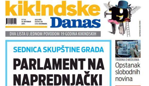 Zajedničko izdanje Danasa i Kikindskih od 1. februara na kioscima 1