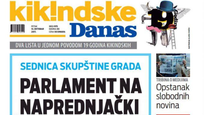 Kikindske novine obeležavaju jubilarni 1.100 broj 12