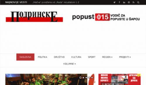 """Pretnje glavnom uredniku šabačkih """"Podrinskih novina"""" 10"""