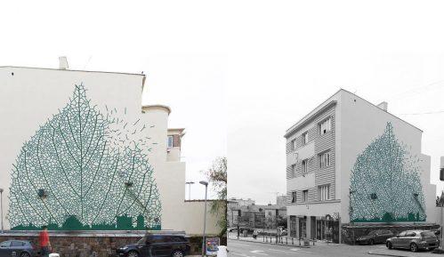 Novi mural na zgradi u Pop Lukinoj ulici 9
