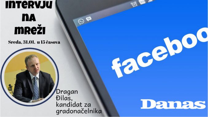 Dragan Đilas 31. januara odgovara na Fejsbuku 1