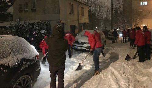 Ljajić i aktivisti SDPS čistili sneg na Severnom bulevaru 8