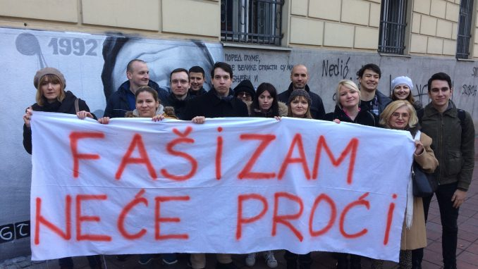 Protest protiv rehabilitacije fašizma (VIDEO) 1
