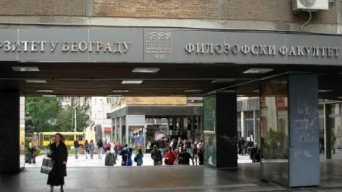 Ispred Filozofskog fakulteta 14. jula formiranje Skupštine Slobodne Srbije 1