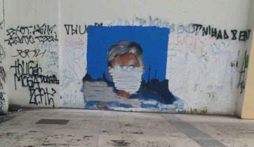 Prekrečen mural sa likom Zorana Đinđića 7