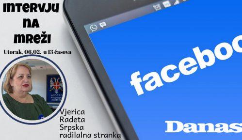 Vjerica Radeta 6. februara odgovara na Fejsbuku 1