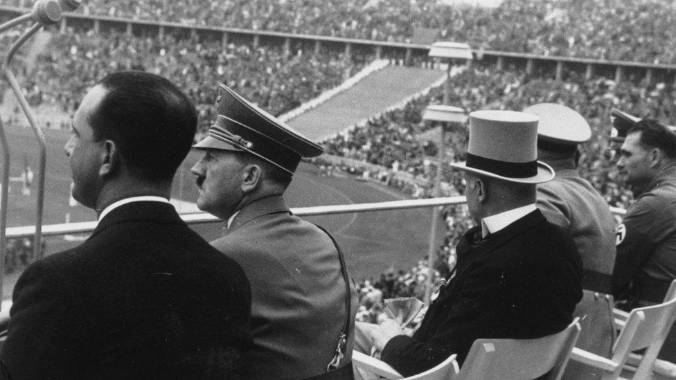 Adolf Hitler na minhenskoj Olimpijadi 1936.