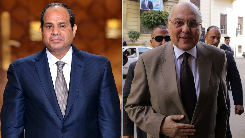 Abdul Fatah el Sisi i jedini protivkandidat na izborima Musa Mustafa Musa