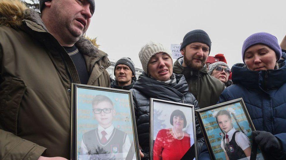 Ožalošćeni članovi porodica poginulih