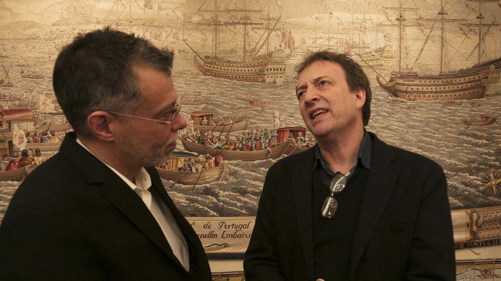 Dejan Tiago Stanković i Miša Gleni (levo) u Londonu