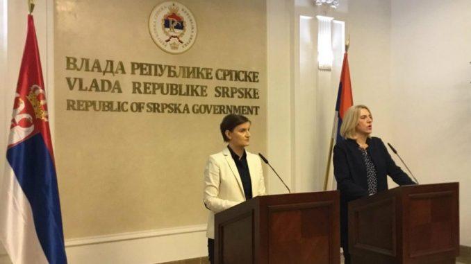 Brnabić: Osećamo sve veću bliskost sa Republikom Srpskom 1