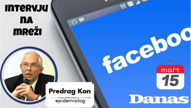 Epidemiolog Kon 15. marta odgovara na Fejsbuku 1