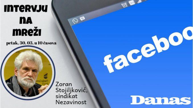 Zoran Stojiljković 30. marta odgovara na Fejsbuku 1