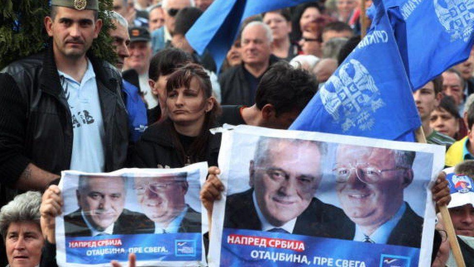 Šešeljeve pristalice u Beogradu