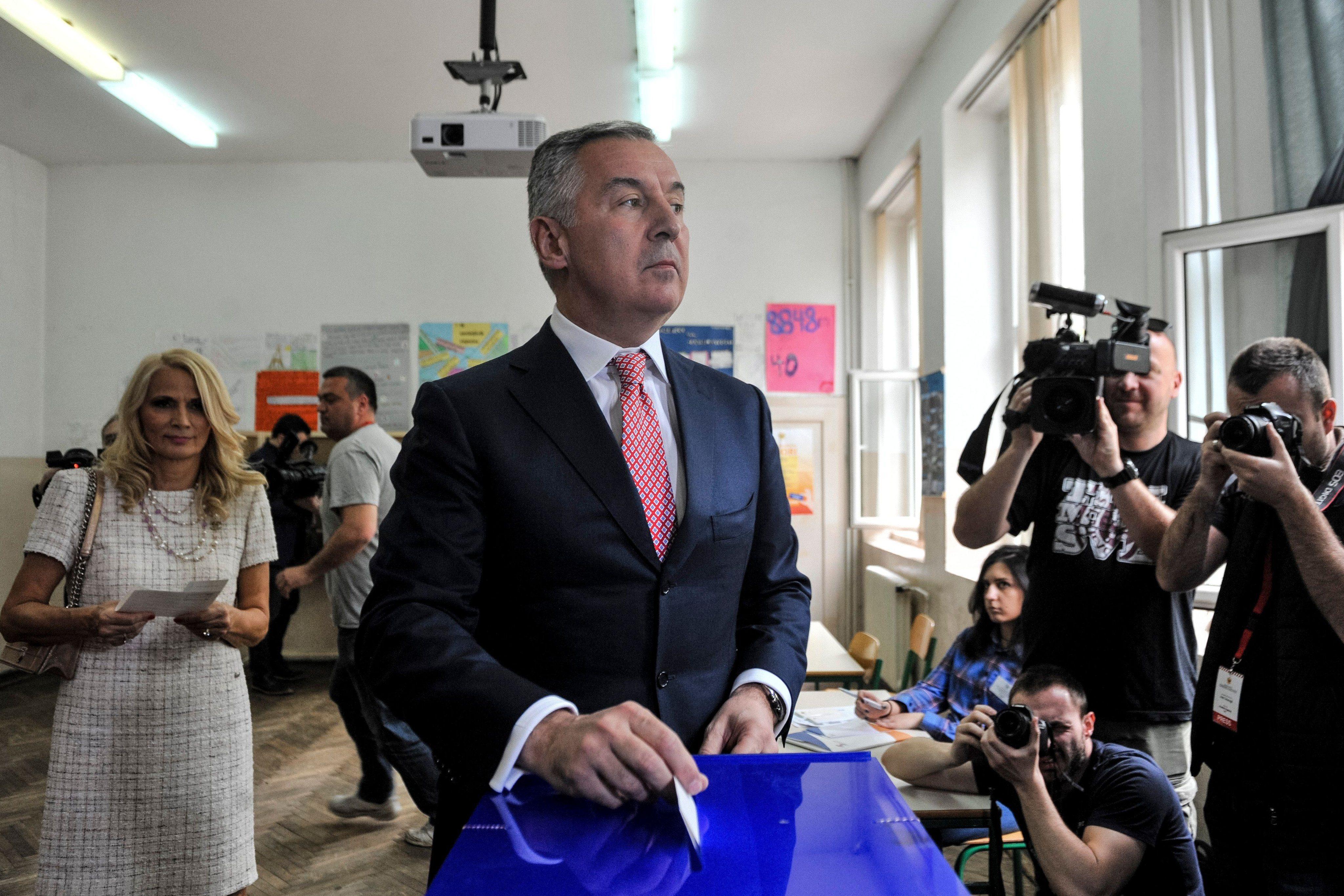 Đukanović glasa, Podgorica, 15. april 2018.