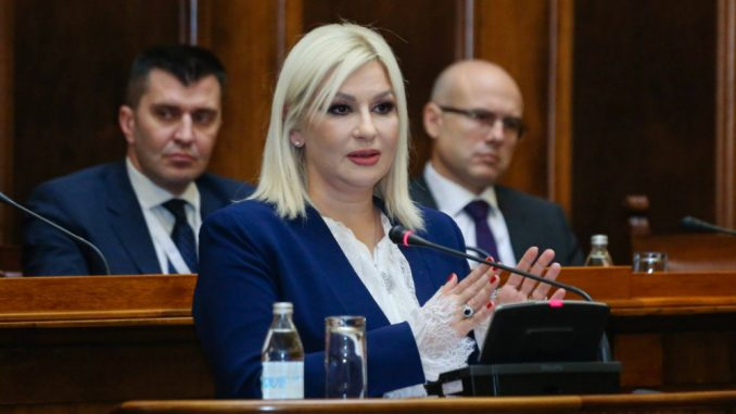 Mihajlović osudila uvrede upućene premijerki 2