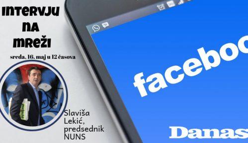 Slaviša Lekić 16. maja odgovara na Fejsbuku 2