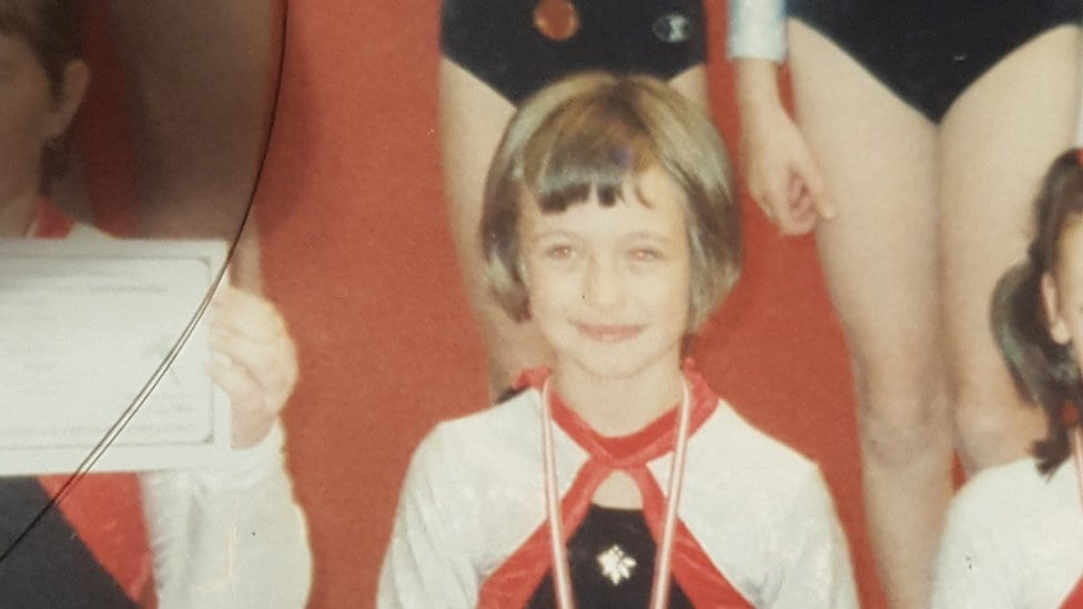 Džes Laton kada je bila mlađa