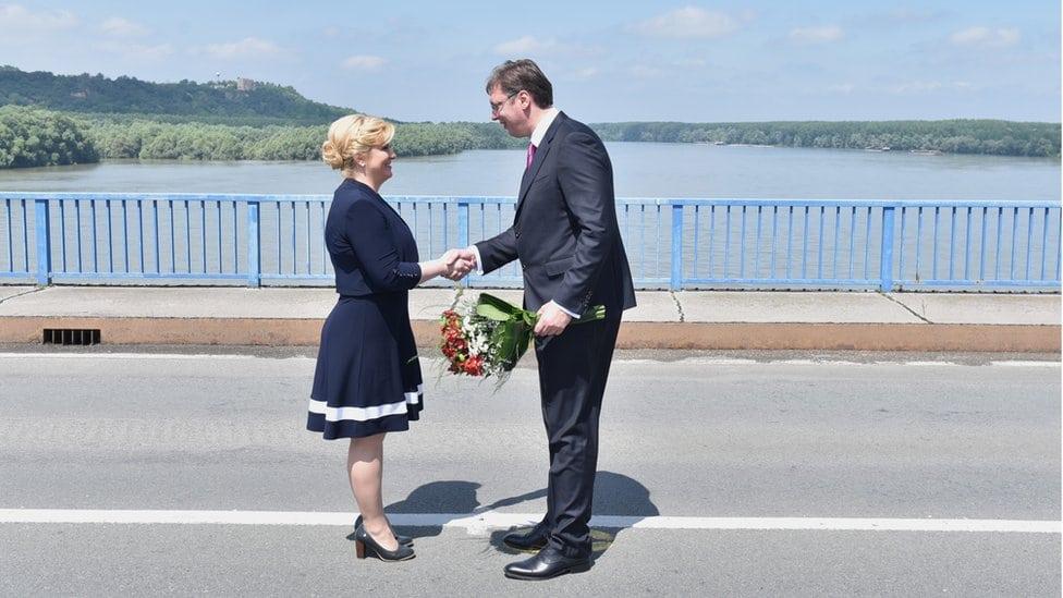 Kitarović i Vučić, Bogojevo-Erdut, 20. jun 2016.