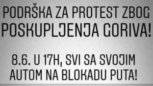 Protesti zbog poskupljenja goriva 8. juna 2