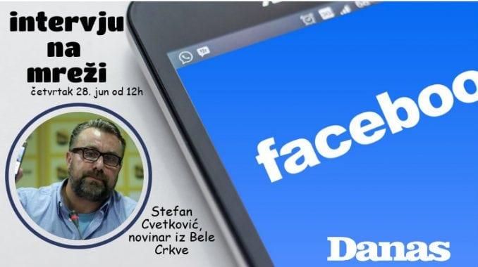 Novinar Stefan Cvetković odgovara 28. juna na pitanja na Fejsbuku 2