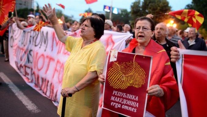Na protestu u Skoplju zatražena ostavka Zaeva 1