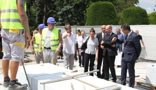 Đorđević i Mondoloni obišli radove na Spomeniku zahvalnosti Francuskoj 13