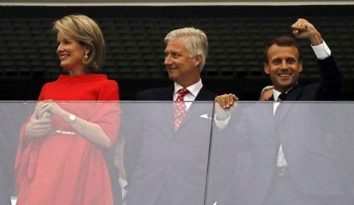 Makron i kralj Filip na utakmici Francuske i Belgije 5