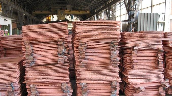 MAT: Rekordna cena bakra na međunarodnom tržištu podiže BDP Srbije 2