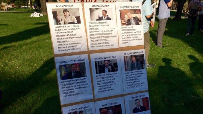 Protest Građanskog bloka 381 ispred predsedništva 2