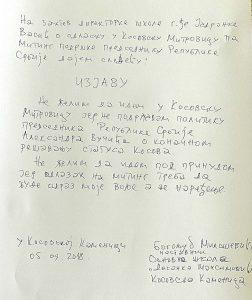 Neće na Vučićev miting, direktorka mu traži izjavu 2