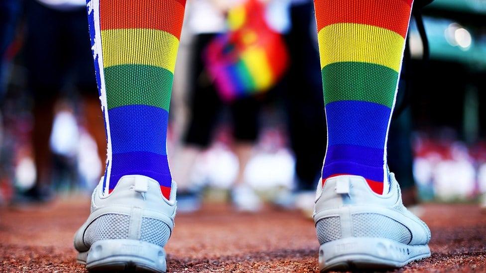 Noge i LGBT čarape